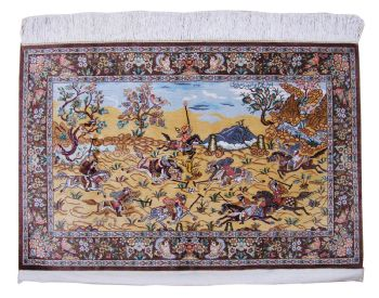 Handmade Qum (A Polo Game) Silk Rug